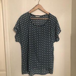 Pleione printed blouse